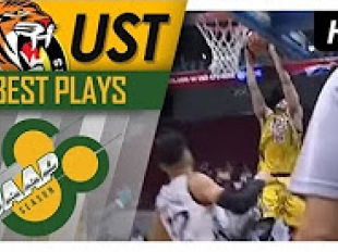 UST ball movement leads to the dunk by Jeepy Faundo