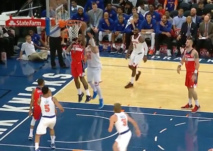 Bradley Beal with 24 points vs the Knicks