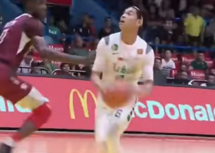 Ricci Rivero hits Ibra Outtara with the euro-step!