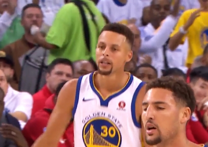 Stephen Curry scores 22 points vs the Houston Rockets