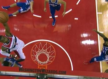 John Wall scores 28 points vs the Philadelphia 76ers