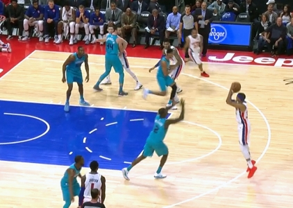 Tobias Harris scores 27 points vs the Hornets