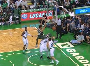 Giannis Antetokounmpo scores 37 points vs the Celtics
