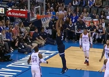 Karl-Anthony Towns scores 27 points vs. the Thunder