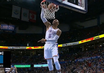 Russell Westbrook scores 31 points vs. the Timberwolves