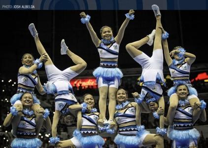 WATCH: Adamson Pep Squad   Performance   UAAP 79 CDC