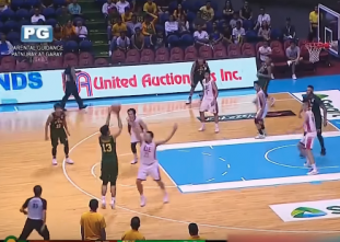 Arvin Tolentino drills the three through the foul!