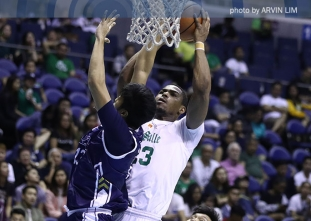WATCH! Ben Mbala unstoppable for the two-handed slam dunk!