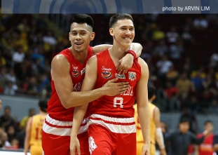 Robert Bolick drains the full-court heave to beat the buzzer