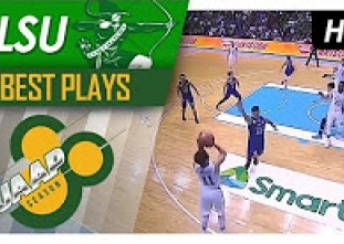 Epic ball movement from DLSU leads to a three by Melecio
