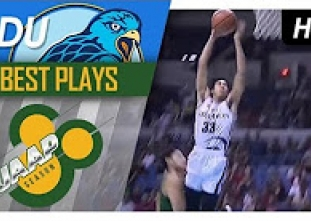 WATCH! Tyrus Hill soars for the MONSTER SLAM over FEU!