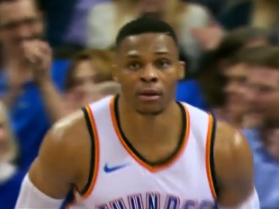 Russell Westbrook scores 21 points vs the Bulls