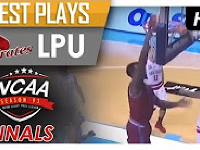 Nzeusseu with a crafty move inside to score over San Beda!