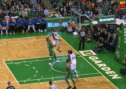 Kevin Durant scores 24 points vs the Celtics