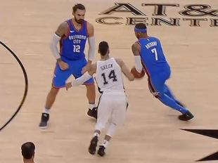 GAME RECAP: Thunder 101, Spurs 104