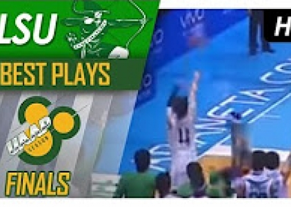 WATCH! Aljun Melecio drills the long two for the lead!