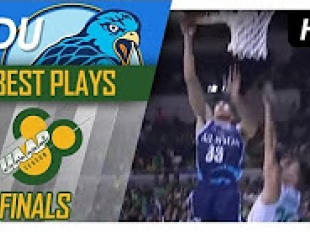 WATCH! Adamson's defense leads to a Tyrus Hill and-one!