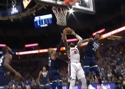 Andre Drummond scores 20 points vs the Timberwolves