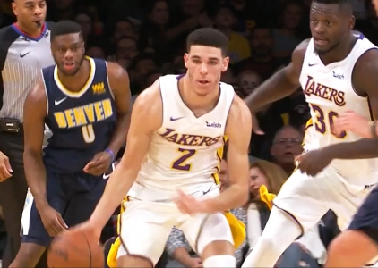Lonzo Ball posts a triple-double vs the Nuggets