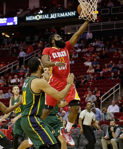 James Harden Vs Jazz: VIDEO: James Harden Drives His Way To 33 Points Against