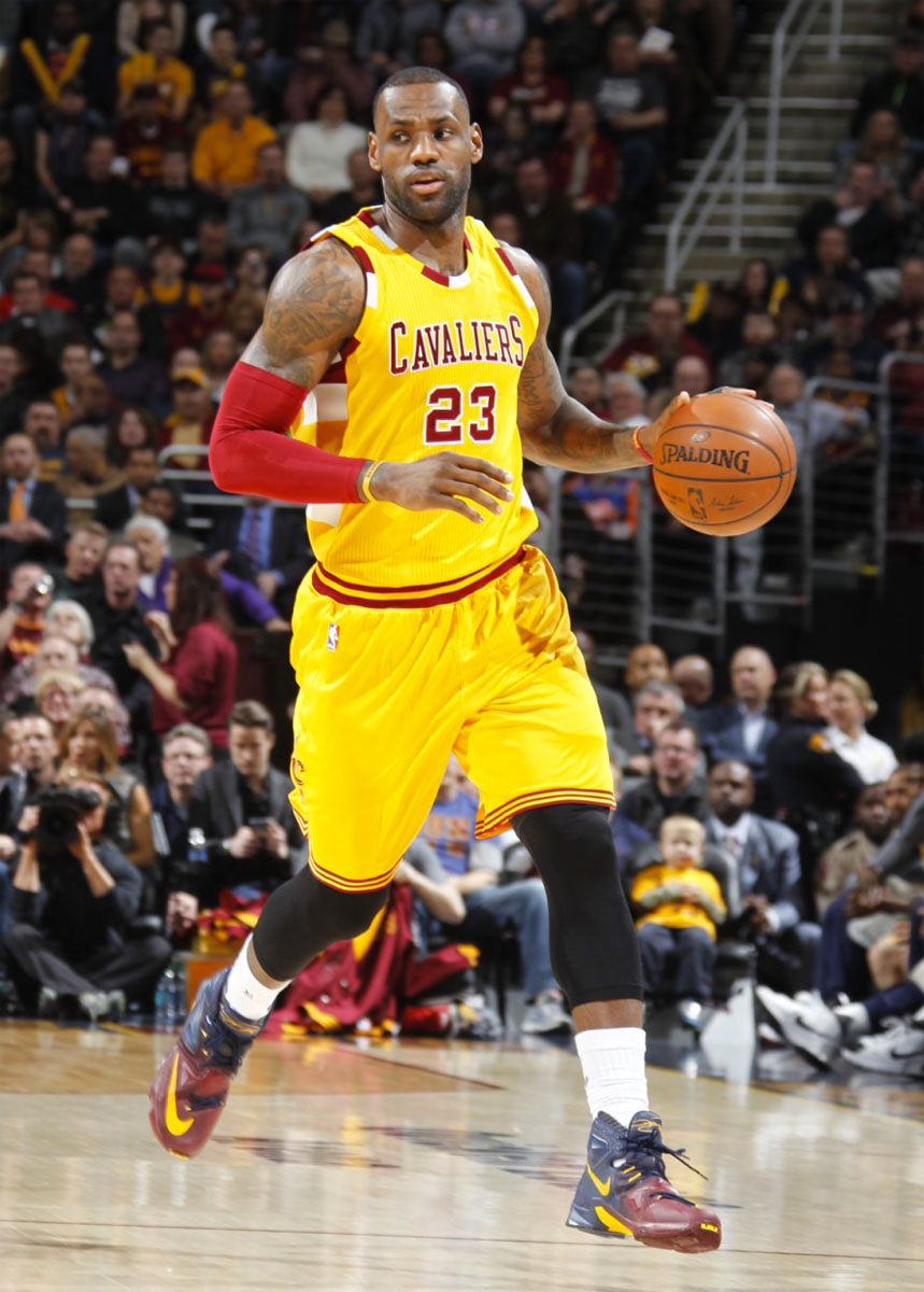 LeBron James comes out with wrong shorts vs. Spurs | ABS ...