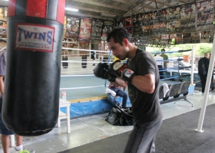 LOOK: Nonito Donaire training at the ALA Gym in Cebu