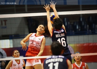 NCAA Season 91 Women's Volleyball: CSJL vs. SBC