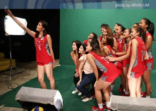NCAA 91 Women's Volleyball: LPU Lady Pirates studio shoot