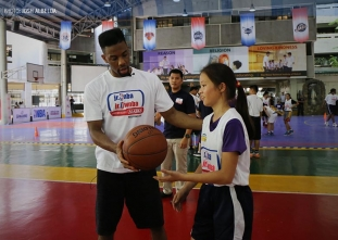 Cole leads workouts in Day 2 of Jr. NBA camp