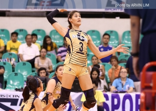 Santiago dominates again as NU sweeps UP