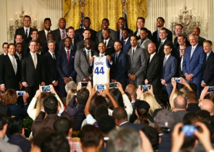 NBA champions visit the White House