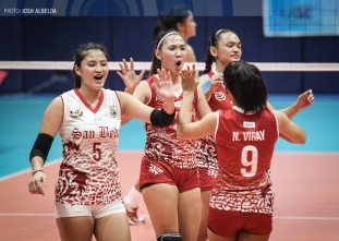 NCAA 92 Women's Volleyball: San Beda defeats LPU