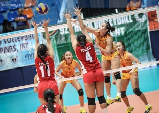 NCAA 92 Women's Volleyball: San Sebastian defeats EAC