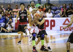 GREAT ESCAPE: Beermen survive upset-conscious Mahindra