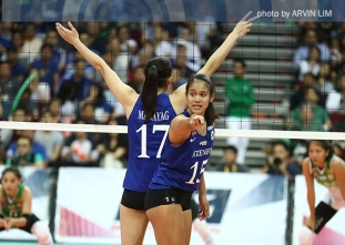 Lady Eagles top round one with gritty win over Lady Spikers