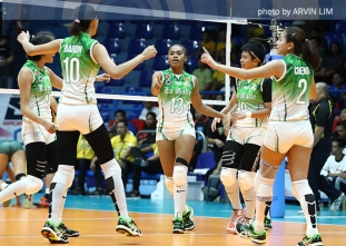 Lady Spikers bounce back big time in rout of Lady Tams