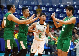 Green Spikers remain in Final Four contention