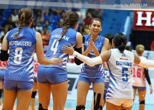 Lady Warriors near semis berth, defeat Cool Smashers in five