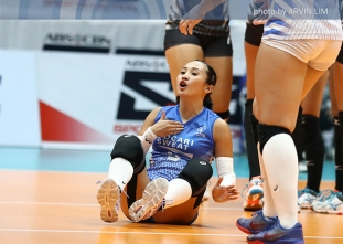 Lady Warriors sweep Spikers for semis no. 3 seed