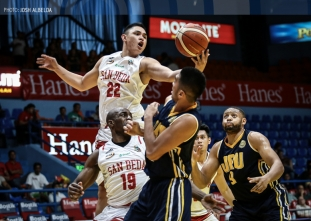 San Beda moves one win away from clean sweep of Filoil