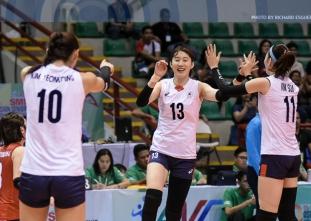 #AVCWomensSCH: Korea def. Chinese-Taipei 25-20, 25-11, 28-26