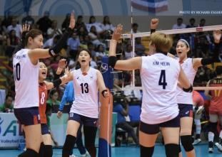 Battle for Third: Korea def. China 25-11, 25-18, 25-20
