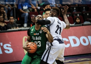 Mbala comes back with a vengeance as DLSU conquers Adamson