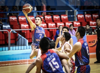 Dela Torre keeps Arellano tied at the top with San Beda