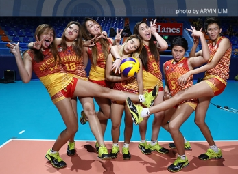NCAA 92 Women's Volleyball OBB shoot: San Sebastian