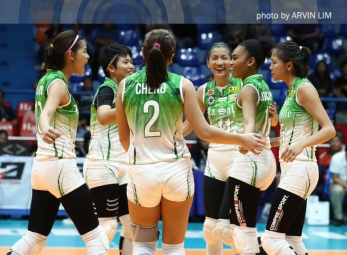 Lady Spikers keep share of second in back-to-back wins