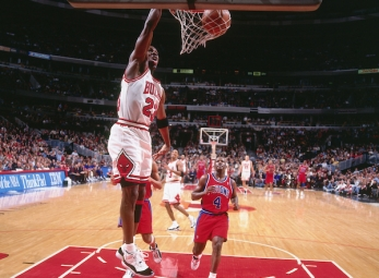 THROWBACK: Jordan scores 53 vs. the Pistons on March 7, 1996