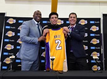 LA Lakers introduce Lonzo Ball