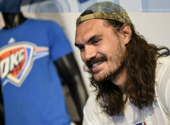 Steven Adams is in town for NBA 3X 2017
