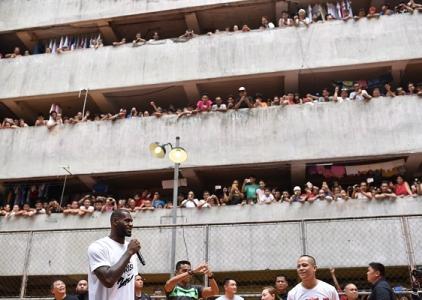 LeBron James Rises in Manila